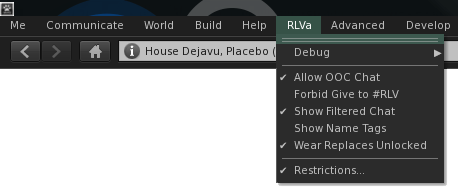 RLVa Configuration Options - Catznip